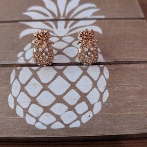 Jewelry - Women's pineapple earrings gold plated NWT